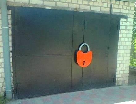 好一把大锁